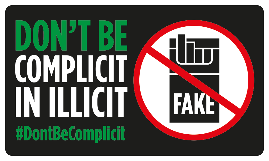 Don't be complicit in illicit. #DontBeComplicit